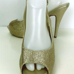 Michaelangelo Vice Gold Spark Sling 10 M Open Toe
